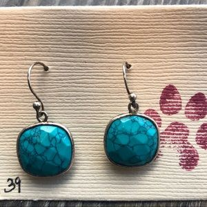 Turquoise Sterling Silver Drop Earrings